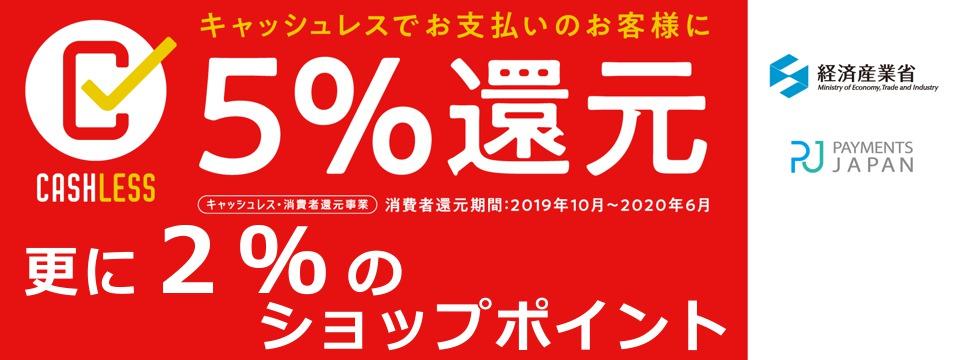 Cashless-5percent-Return